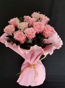 Ramo de rosas liofilizadas