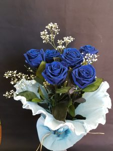 Rosas azules preservadas