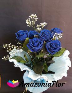 ramo rosas eternas azules